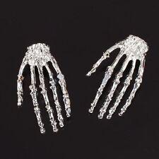 Ear Stud Silver Alloy Earring Skull Bone Skeleton Hand Earring Goth Punk Rock t