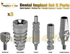 X3 Dental Implant Set 5 Parts All In One (Read Description)