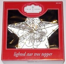 Trim A Home Lighted Star Tree Topper, 9.5 x 3.5 x 9.5 inches, Gold Trim, New