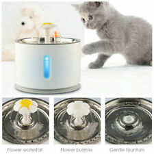 2.4L Automatic Led Pet Water Fountain Cat Dog Drinking Bowl Dispenser w/ Filter