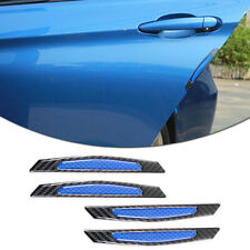 Blue carbon fiber car accessories Door Scratch Bumper Scuff trim Stickers x 4