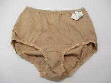 new MAIDENFORM Panty Women's Size 6 Lace Trim High Waist Nude Cotton Brief
