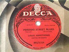 78 rpm - LOUIS ARMSTRONG - Perdido street blues -DECCA MU 3164