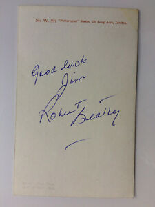 Robert Beatty - Where Eagles Dare - Original Hand Signed Autograph
