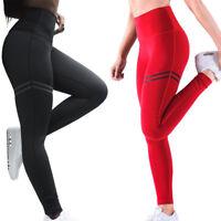 Womens High Waist Yoga Leggings Sports Gym Lift Fitness Trousers Running Pants