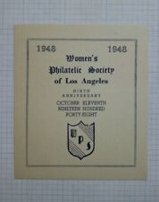1948 Wps Los Angeles Ca 9th Anniversary Souvevir Event Label Ad