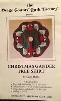 Vintage Tree Skirt Pattern Geese Osage Country Quilt Factory Christmas Gander