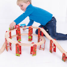 Bigjigs Rail Wooden High Level Track Expansion Pack - 27 Play Pieces