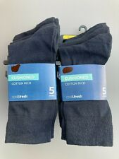 M&S Mens Socks 10 Pairs Navy Cushioned Everyday Cotton Socks