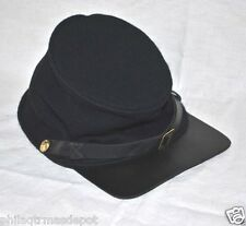 Forage Cap - Union - Medium - 100% Wool w/Leather Brim - Civil War - L@@K