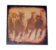 """Horse Born Free 8"""" x 8"""" Wood Plaque Sign for Home, Den, Office, Barn, Hallway"""