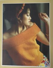 """Knitting Pattern For Ladies 4 Ply  Off The Shoulder Top Jumper Size 34/38"""""""