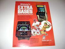 1980 Midway Extra Bases Arcade Game Original sales flyer brochure
