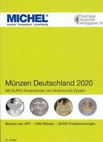 Michel Deutschland Münzkatalog 2020, ab 1871 bis heute in farbe, NEU