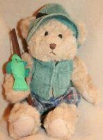 "Russ Berrie ""Montana"" Plush Fishing Stuffed Teddy Bear"
