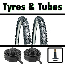 2x Black Tyre 16 x 1.95 (52-305) Childrens Kids Bike Bicycle BMX & SCH Tubes