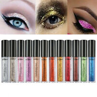 12 Colors Women Smoky Eye Shadow Makeup Pearl Metallic Glitter Eyeshadow Powder
