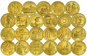 POLAND FULL SET OF 23 COINS 2 ZLOTE 2007 - COMMEMORATIVE UNC