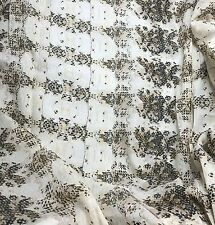 """Cotton LAWN VOILE Fabric - Ecru Snakeskin 54"""" by the yd"""