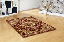 LARGE CLASSIC TRADITIONAL RED BEIGE CREAM RUG 120x170cm
