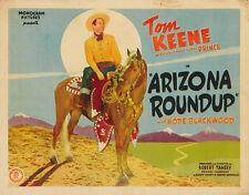 Arizona Roundup (1942) Tom Keene Cult Western movie poster print