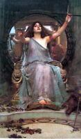 Fine Oil painting J. W. Waterhouse - Circe Offering the Cup to Odysseus canvas
