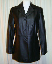 BNWOT:BEAUTIFUL HOT OPTIONS BLACK LEATHER JACKET/BLAZER size AUS 10 US 6