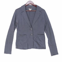Caslon Women's Blue Lightweight Cotton Cardigan Blazer Jacket - Size Large