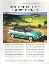 ▬► PUBLICITE ADVERTISING AD Car Voiture Bertone edition OPEL  1996