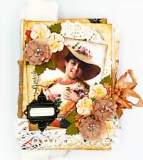 Handmade Vintage Flower Sellers' 6.5x8 Inch 22 Page Junk Journal Altered Book