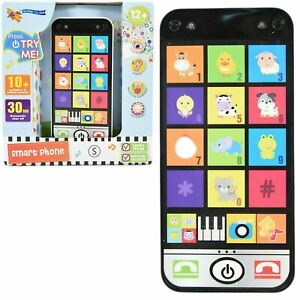 Baby Smart Phone Music Learning Toy Toddler Mobile Pretend Play Game With Light