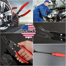 US STOCK 2Pcs Car Door Remover & Trim Clip Removal Pliers Pry Bar Combo Tool