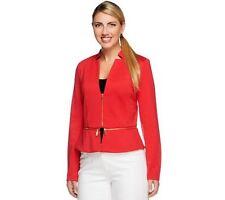 Styled by Joe Zee Ponte Knit Blazer with Zipper Detail NWT SMALL QVC $85.00