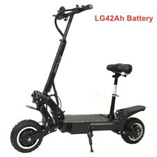 Fast 5600W electric scooter 60V with dual motor 100-130 kms 11 inch 42Ah + Seat