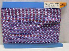 Vintage Talon Cloth Fancy Ribbon #40000 W. Germany Cotton 21 Yards Lace Winder