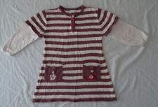 Robe rayée mauve et rose pour filles, Cadet Rousselle, 23 mois