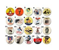 20 x WW2 Allies Propaganda Buttons (25mm, badges, pins, axis, war memorabilia )