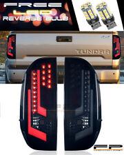 14-17 Toyota Tundra Black ABS Housing Smoke Lens LED Tail Light Lamp Winjet +LED