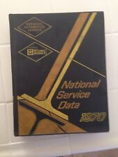 1970 NATIONAL AUTOMOTIVE SERVICE DATA MITCHELL MANUAL