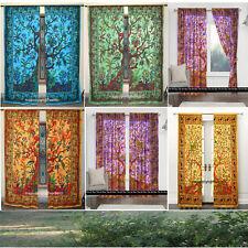 Indian Mandala Tree of Life Bohemian Hippie Door Window Curtain Drapes Curtains