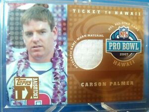 Carson Palmer 2007 Topps Ticket to Hawaii Authentic Game Worn Jersey Numbered