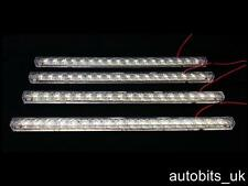 4 X LED 12V WHITE LIGHT STRIP BAR UNDER KITCHEN CABINET LINKABLE TUBED 33cm