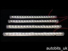 4 X 18 Smd 5050 Led Rígido Tira De Luz Tubo Bar Lámpara Blanco Brillante 12v Coche van