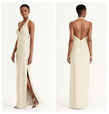 RALPH LAUREN CHIC OPEN BACK HALTER  EVENING GOWN MAXI DRESS   Sz 16  NWT $ 220