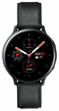 Samsung Galaxy Watch Active 2 44mm Stainless Steel Case with Leather Strap Smartwatch - Black (LTE) (SM-R825FSKAXSA)
