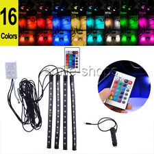 LED IR Remote Control Strip 12LED Lights Car Interior Atmosphere Neon Light