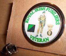 HM Armed Forces The Royal Irish Fusiliers Veteran Lapel pin badge.