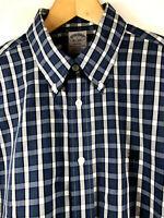BROOKS BROTHERS Regent Mens Blue Plaid Cotton Long Sleeve Shirt Medium NWT $92