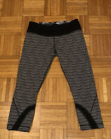 "LULULEMON Inspire Crop II Luxtreme Textured Wave ""Silver Spoon"" Leggings.  8"