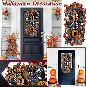 Halloween Wreath Halloween Decorations For Front Door props Decor BOO Outdoor